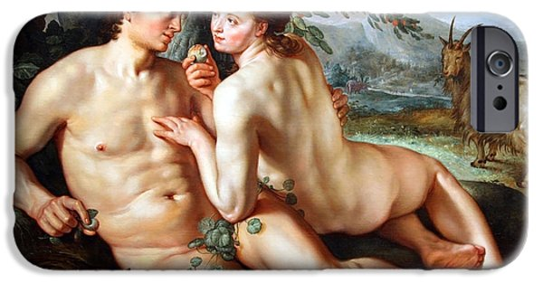Cora Wandel iPhone Cases - Goltzus The Fall Of Man iPhone Case by Cora Wandel
