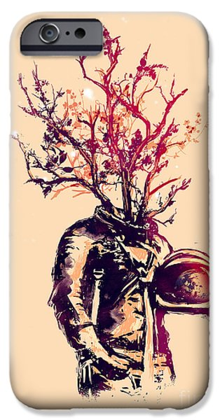 Surrealism Digital Art iPhone Cases - Goodbye Earth iPhone Case by Budi Satria Kwan