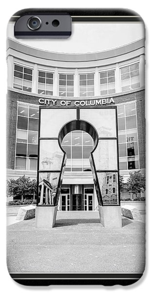 Matting iPhone Cases - Government Offices Columbia Missouri iPhone Case by Charles Feagans