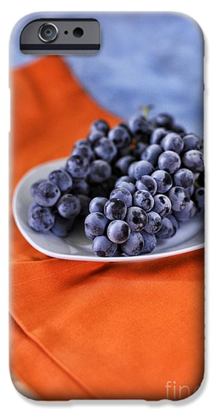 Blue Grapes iPhone Cases - Grapes iPhone Case by HD Connelly