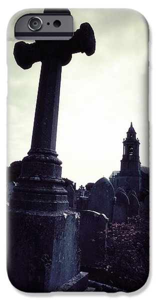 Grave iPhone Cases - Graveyard iPhone Case by Joana Kruse