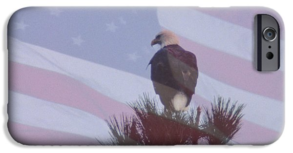 Flag iPhone Cases - Great American Hunter iPhone Case by Sharon Elliott