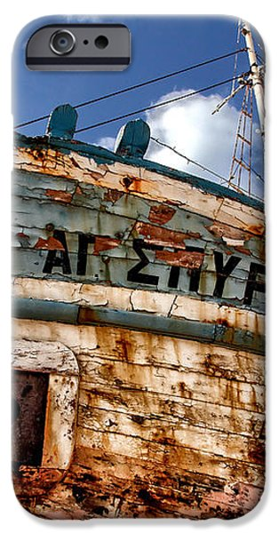 greek fishing boat iPhone Case by Stylianos Kleanthous