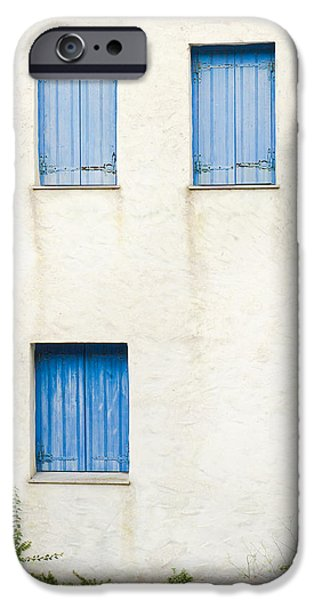 Asymmetrical iPhone Cases - Greek house iPhone Case by Tom Gowanlock