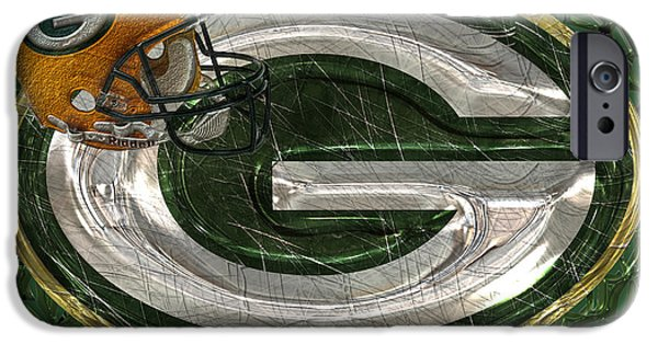 Legend iPhone Cases - Green Bay Packers iPhone Case by Jack Zulli