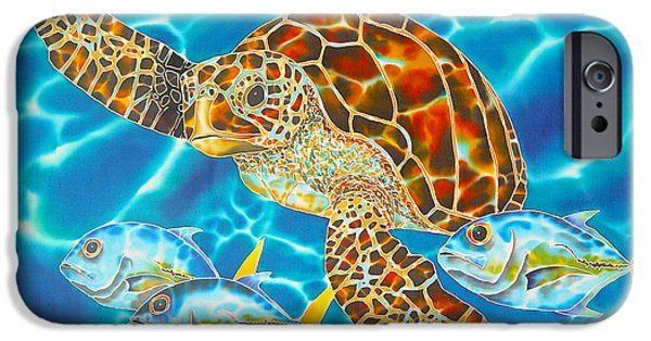 Home Tapestries - Textiles iPhone Cases - Green Sea Turtle iPhone Case by Daniel Jean-Baptiste