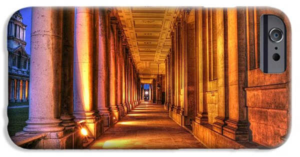 Naval College iPhone Cases - Greenwich Royal Naval College HDR  iPhone Case by David French