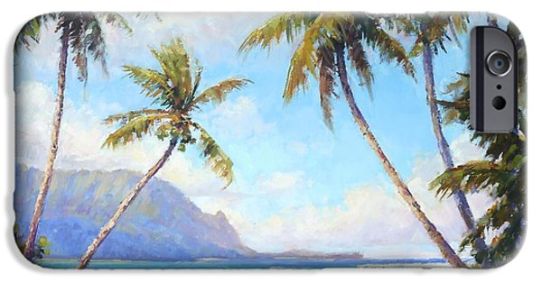 Tree Art Print iPhone Cases - Hanalei Bay iPhone Case by Jenifer Prince