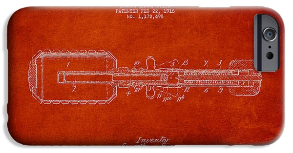 Explosion Digital iPhone Cases - Hand Grenade Patent Drawing from 1916 iPhone Case by Aged Pixel