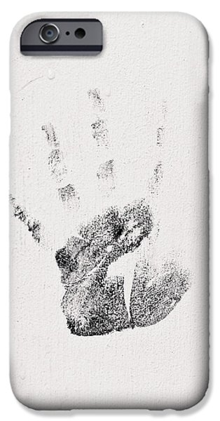 Creative People iPhone Cases - Handprint iPhone Case by Tom Gowanlock