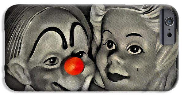 Puppets iPhone Cases - Happy Couple iPhone Case by Jeff  Gettis