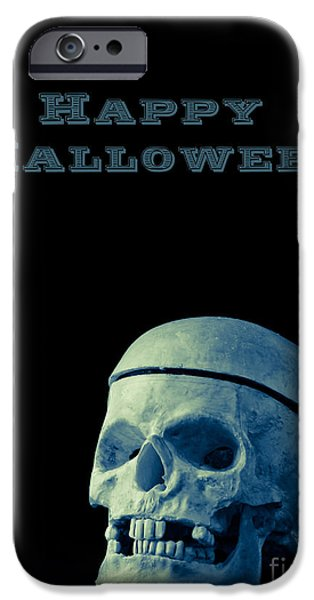 Creepy iPhone Cases - Happy Halloween iPhone Case by Edward Fielding