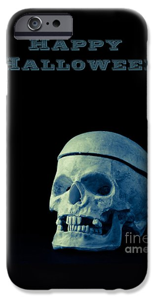 Ghoul iPhone Cases - Happy Halloween iPhone Case by Edward Fielding