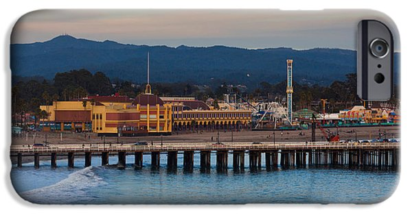 Municipal iPhone Cases - Harbor And Municipal Wharf At Dusk iPhone Case by Panoramic Images