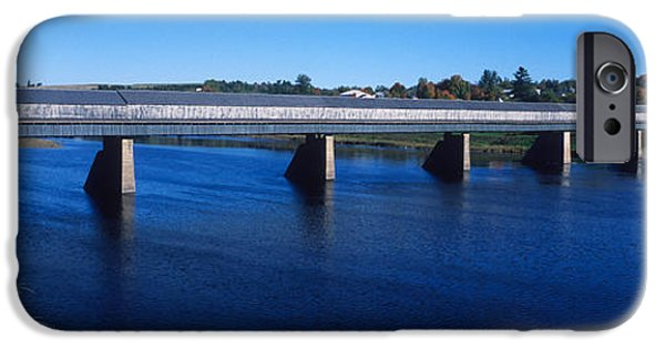 Historic Site iPhone Cases - Hartland Bridge, Worlds Longest Covered iPhone Case by Panoramic Images