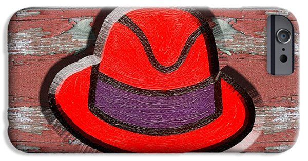 Shower Head iPhone Cases - Big Red Hat iPhone Case by Patrick J Murphy