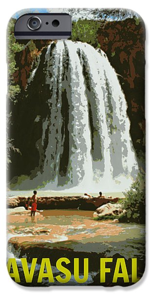 Landscape Poster Photographs iPhone Cases - Havasu Falls Grand Canyon iPhone Case by Stephen Stookey
