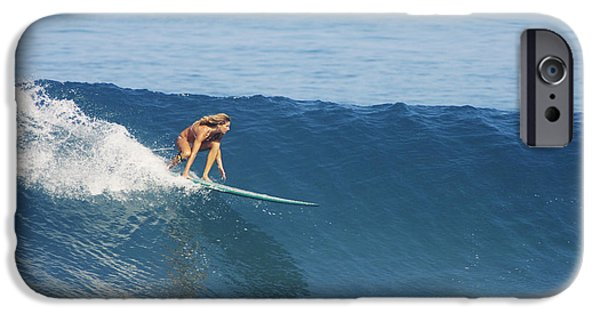 Adrenaline iPhone Cases - Hawaii, Oahu, North Shore, Pipeline, Surfer, Riding A Wave. iPhone Case by Vince Cavataio