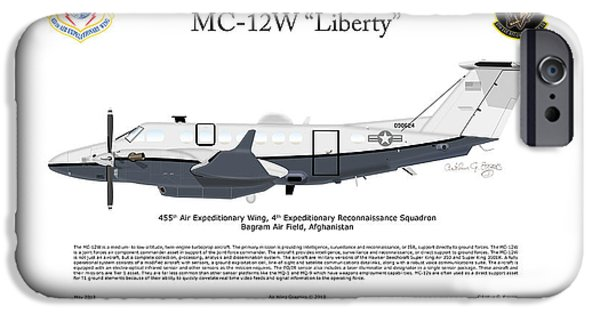 Recently Sold -  - Iraq iPhone Cases - Hawker Beechcraft MC-12W Liberty iPhone Case by Arthur Eggers