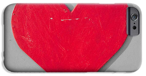 Concept Art iPhone Cases - Heart shape iPhone Case by Tom Gowanlock