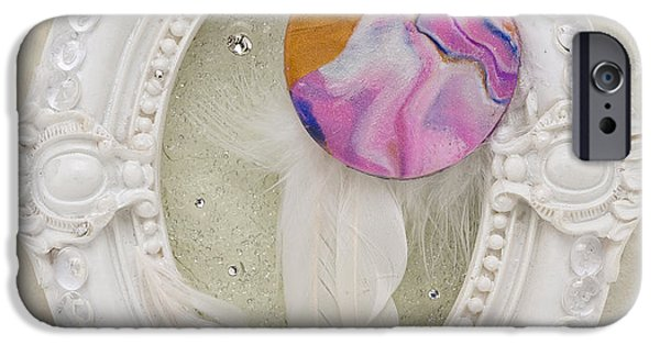 Magical Reliefs iPhone Cases - Heart-Unicorn-artwork iPhone Case by Heidi Sieber