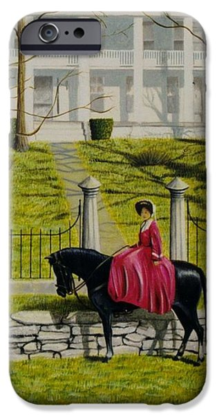 Her Favorite Horse iPhone Case by Stacy C Bottoms