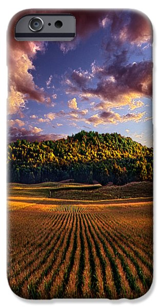 Farm iPhone Cases - Hidden Valley iPhone Case by Phil Koch