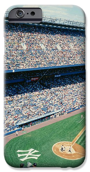 Team Sports iPhone Cases - High Angle View Of Spectators Watching iPhone Case by Panoramic Images
