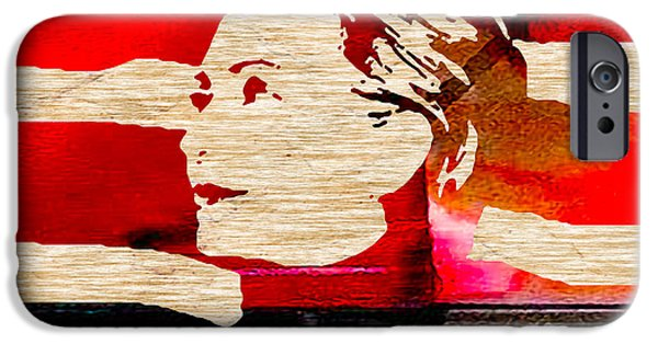 Hillary Clinton iPhone Cases - Hillary Clinton iPhone Case by Marvin Blaine