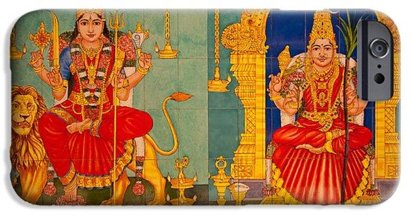 Hindu Goddess iPhone Cases - Hindu God iPhone Case by Niphon Chanthana