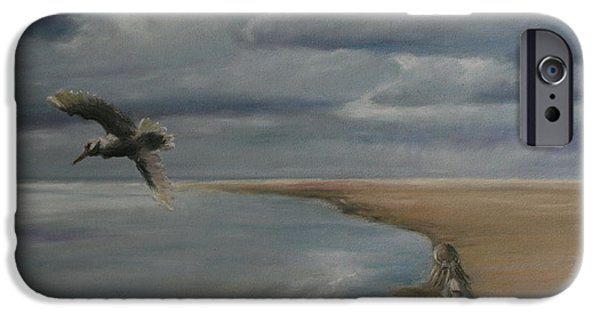 Seagull Pastels iPhone Cases - Hint of Rain iPhone Case by Rachael Curry