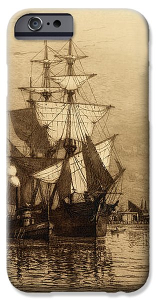 Historic Seaport Schooner iPhone Case by John Stephens