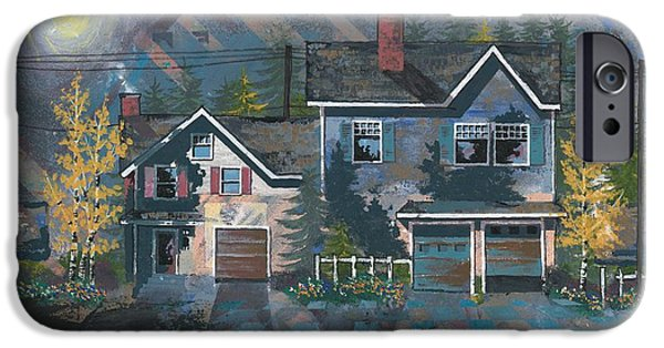 Home iPhone Cases - Home in the Suburbs iPhone Case by John Wyckoff