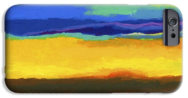 Vivid Pastels iPhone Cases - Horizons iPhone Case by Stephen Anderson
