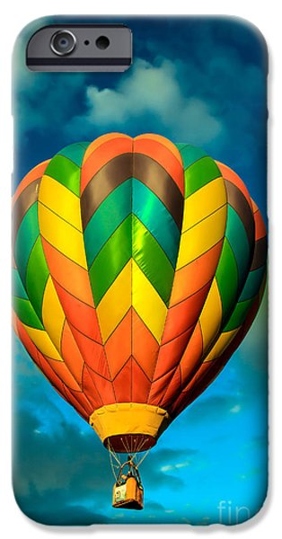 Colorado River Crossing iPhone Cases - Hot Air Balloon iPhone Case by Robert Bales