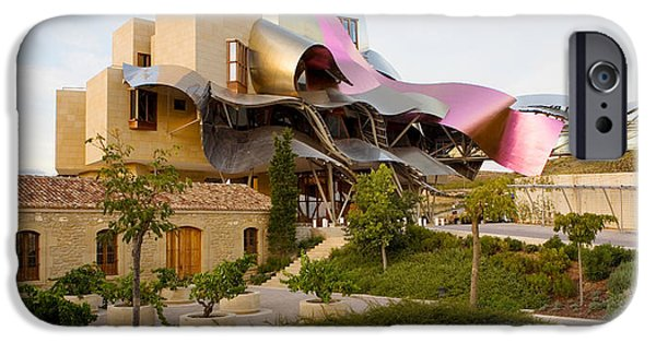 Winery Photography iPhone Cases - Hotel Marques De Riscal, Elciego, La iPhone Case by Panoramic Images