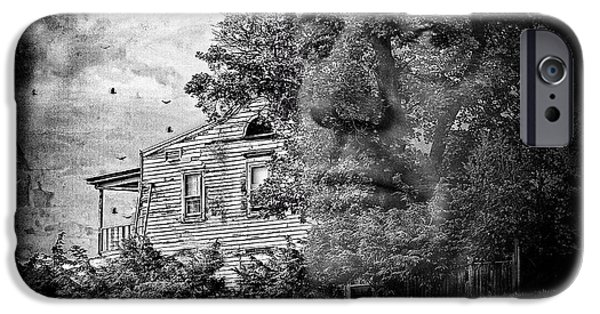 Haunted House iPhone Cases - House On Haunted Hill iPhone Case by Madeline Ellis