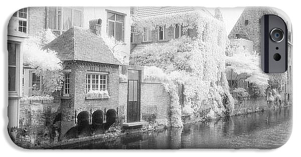 White House iPhone Cases - Houses Along A Channel, Bruges, West iPhone Case by Panoramic Images
