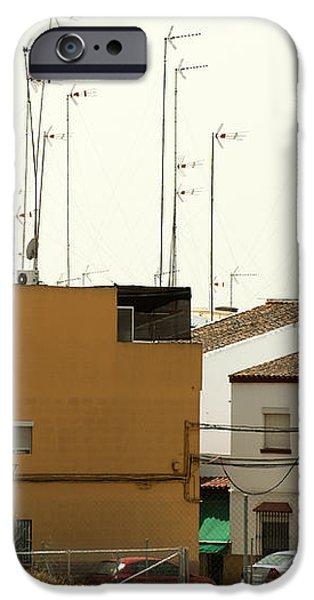 Houses and antennas iPhone Case by Deyan Georgiev