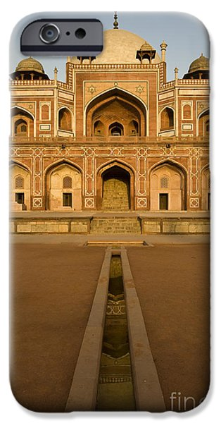 Nation iPhone Cases - Humayuns Tomb, Delhi iPhone Case by John Shaw