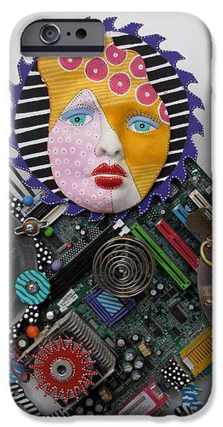 Fun Sculptures iPhone Cases - I Am A Warrior iPhone Case by Keri Joy Colestock