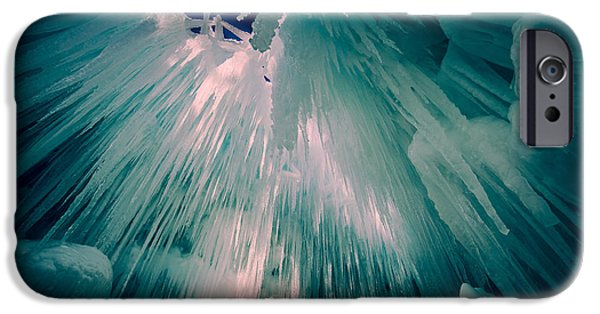 Cavern iPhone Cases - Ice Castle iPhone Case by Edward Fielding