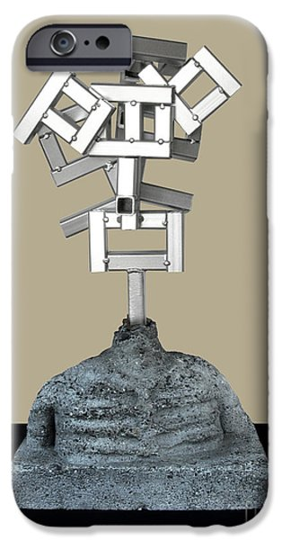 Child Sculptures iPhone Cases - Identity Crisis 03 iPhone Case by Peter Piatt
