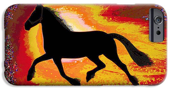Multimedia Mixed Media iPhone Cases - If mind is a horse you need your heart and soul to control it for the right pace and direction  Succ iPhone Case by Navin Joshi