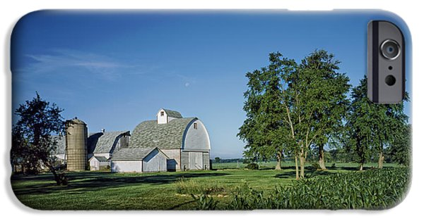 Illinois Barns iPhone Cases - Illinois Farm iPhone Case by Mountain Dreams