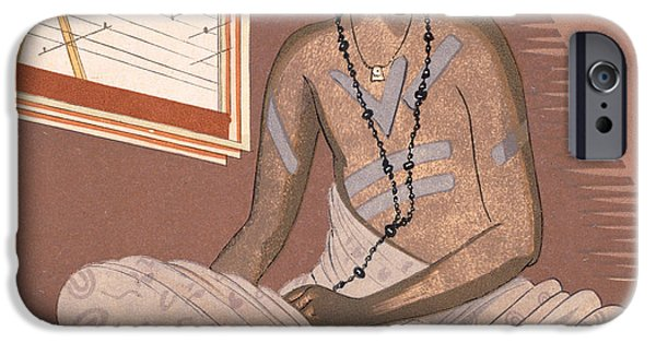 Robe Drawings iPhone Cases - Illustration for Kim by Rudyard Kipling iPhone Case by Francois-Louis Schmied