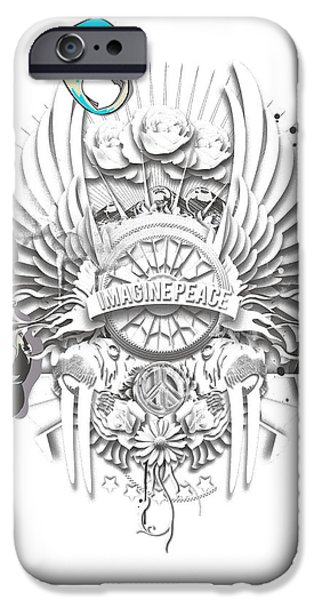Well-known iPhone Cases - Imagine Lennon iPhone Case by Pop Culture Prophet