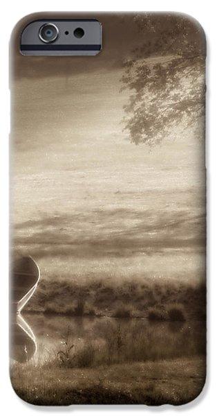 Skiff iPhone Cases - In Quiet Solitude iPhone Case by Tom Mc Nemar
