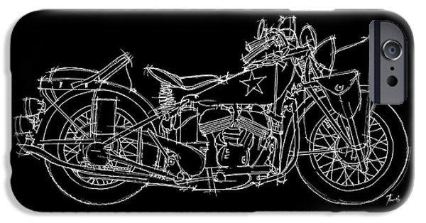Transportation Pastels iPhone Cases - Indian 640B 1942 iPhone Case by Pablo Franchi