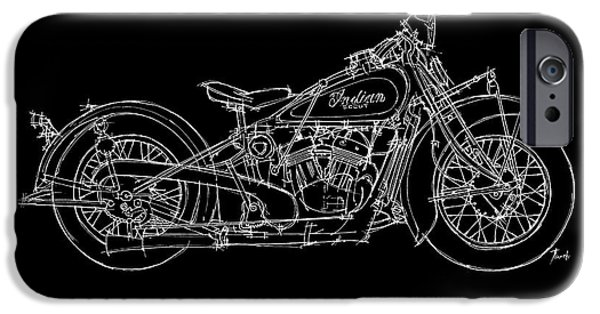 Transportation Pastels iPhone Cases - Indian Scout 1932 iPhone Case by Pablo Franchi